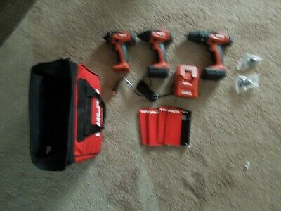 Hilti Sfd 2-a Sid 2a Sf2h-a Drill Kit W 2 Batteries Charger Bag All New