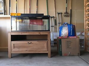 Reptile Tank withTable and Supplies.