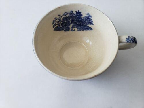 Vintage Made in Japan Blue White Porcelain Tea Cup