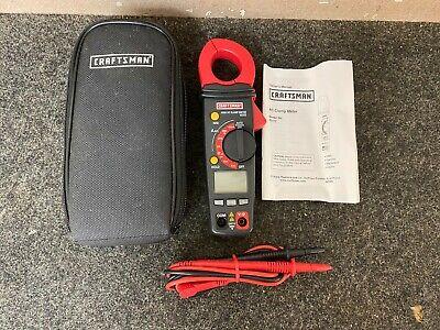 Craftsman 82372 Digital 400a Ac True Rms Clamp Meter Ammeter Electrical Tester