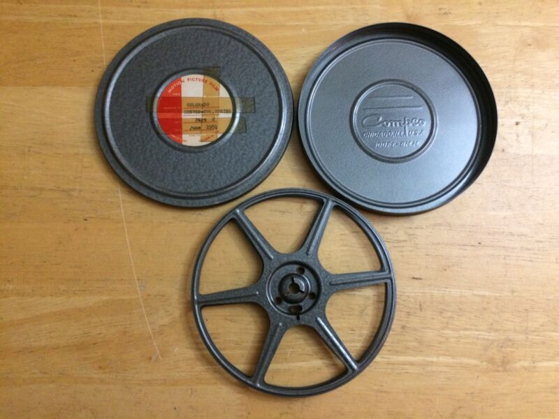 VTG 8mm 300ft Reel & Case MADE IN USA CHICAGO ILLINOIS COMPCO FAST FREE SHIP!!