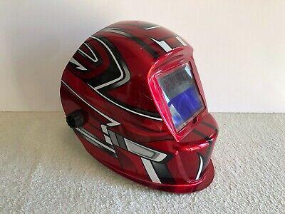 Chicago Electric Arc Welding Helmet Adjustable Red Design Auto Darkening 67854