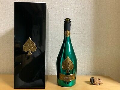 Ace of Spades Green Armand De Brignac 750ML Champagne Empty Bottle Box Cork