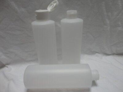 Plastic Cylinder Bottle 8 Oz Natural H.d.p.e. 24-410 Narrow Mouth Flip Top Cap