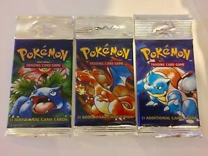 Pokemon Base Set Unlimited Booster Packs 1999 Authentic Heavy