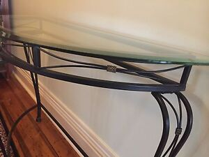 Glass top hall table Brighton Bayside Area Preview