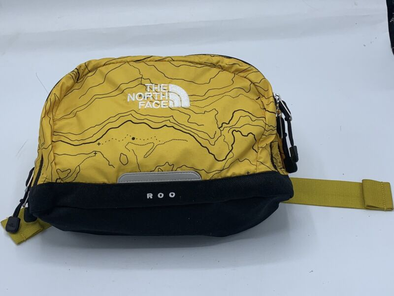 THE NORTH FACE Black/Yellow Belt Bag Fanny Pack Clip Purse G50