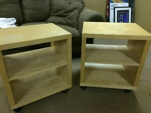 IKEA side tables malm pair