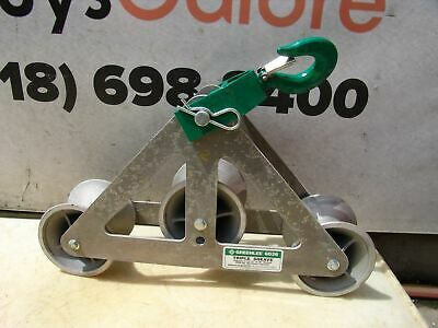 Greenlee 6036 6000 Lbs Triple Sheave Wire Pulling Tugger Puller Great Shape 2