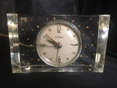 "VINTAGE SETH THOMAS LUCITE CLOCK, ""SPLENDOR"" MODEL SS7P  1950s"