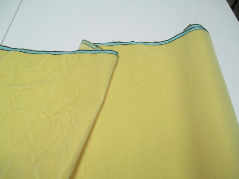 Antique French Millinery Velvet Fabric Cotton silk yellow