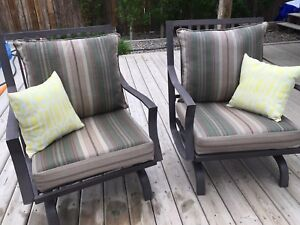 """NEW! Never used Allen & Roth 24"""" - 4 Patio Chair Cushions"""