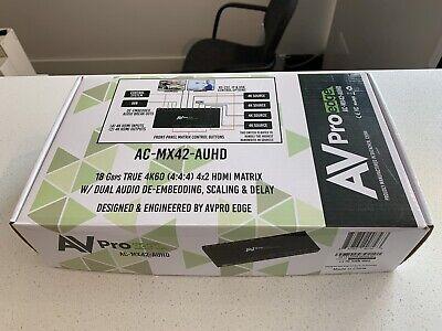 AVPro edge AC-MX42-AUHD 4k UHD 4x2 HDMI Video Matrix Used