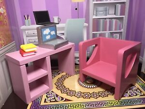 Barbie furniture, 1/6 computer desk and chair