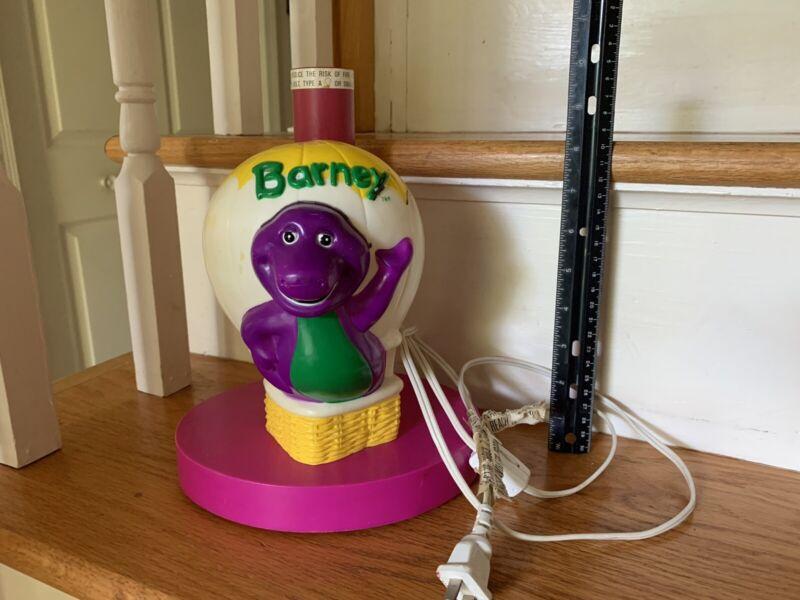 Vintage Barney the Dinosaur Happiness Express Hot Air Balloon Lamp Base