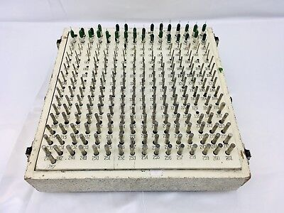 Deltronic Plug Gage 257 Pieces Set .006-.262 Missing 12 Pins