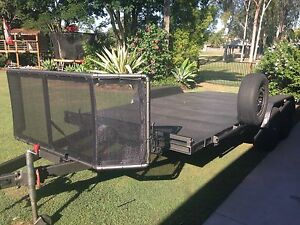 Tilt trailer.   Tandem car trailer. Beaver tail Yamanto Ipswich City Preview