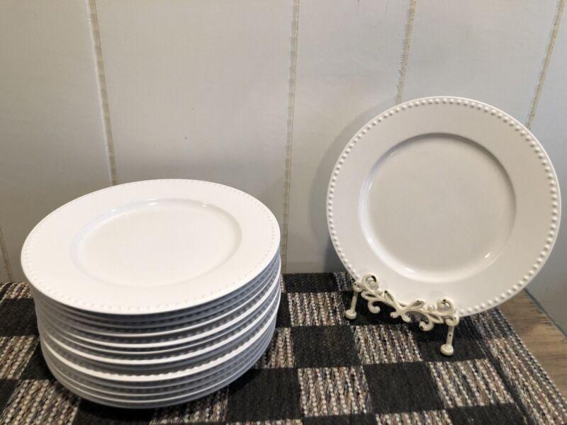"""Dansk (Japan) Rondure Rice White 11"""" Dinner Plates - 4"""