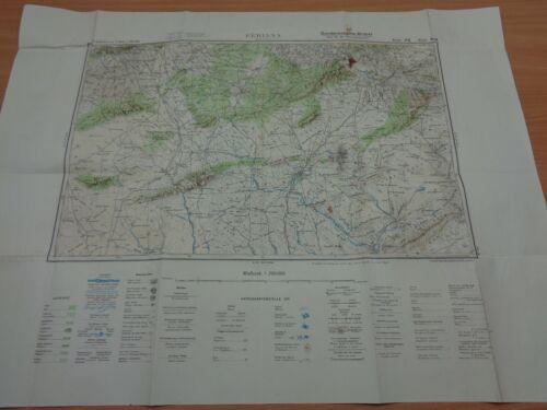 "WW2 (1941) German NORTH AFRICA Map ""FERIANA"" (Battle of KASSERINE PASS - ROMMEL)"