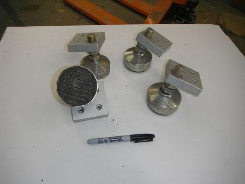 Lot of 4 Heavy Duty Machine Feet and Aluminum Plates (5532)