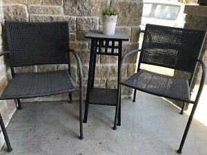 Porch set of chairs and table