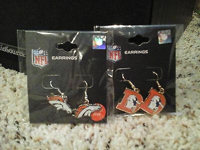 Denver Broncos Vintage and New Logo Earrings