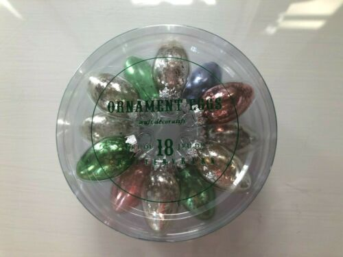 Pottery Barn Easter MINI MERCURY GLASS EGG ORNAMENTS, NIB