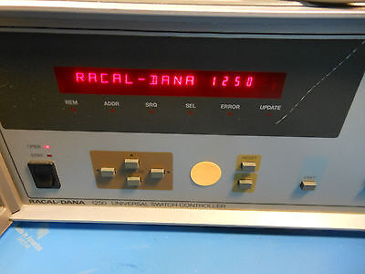 Racal Dana 1250 Universal Switch Controller 4 Relay Cards And Extra