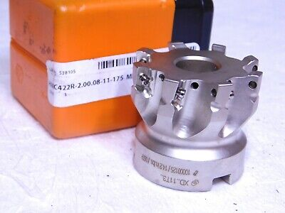 Hertel Indexible Sq Shoulder Face Mill 2 Dia 8fl .75 Arbor 1.75 Oah 6000371