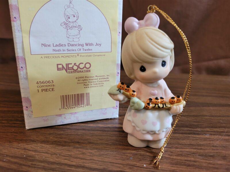 Enesco Precious Moments Ornament 2000 NINE LADIES DANCING WITH JOY 456063