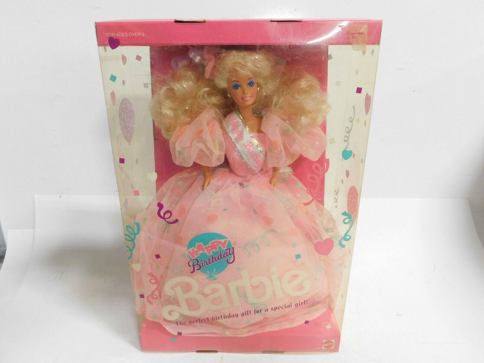 NEW Vintage Mattel Happy Birthday 1990 Barbie Doll NRFB