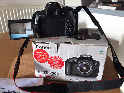Canon EOS EOS 750D 24.2MP Digital SLR Camera - Black (Kit with 18-55mm Lens)
