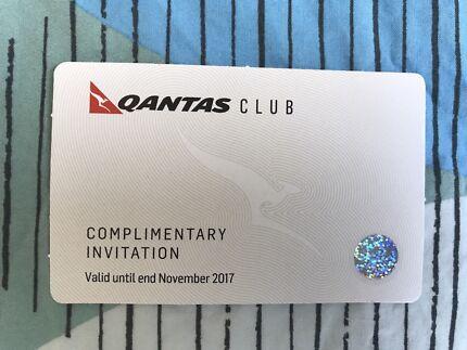 Qantas Club Complimentary Invitation