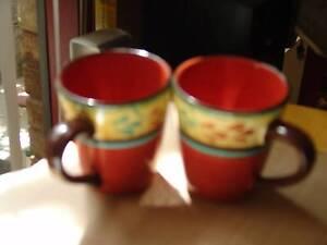 6 x Tuscany Hand Painted Coffee/Tea Mugs -  Brand New Adelaide CBD Adelaide City Preview