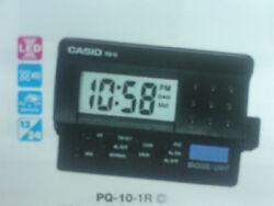 CASIO ALARM CLOCK - LED LIGHT PQ-10-1R