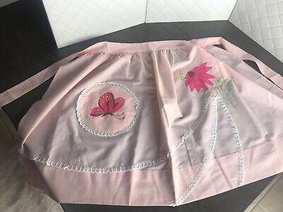 Vintage Aprons, Retro Aprons, Old Fashioned Aprons & Patterns Vintage Half Apron Home Embroidered  $13.89 AT vintagedancer.com