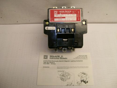 NEW TAKEOUT Square D 8903S002 Lighting Contactor With 31074-400-38 120v Coil
