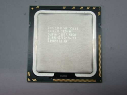 LOT OF 2 INTEL XEON X5660 SLBV6 2.8 GHZ 12MB CACHE 6 CORE PROCESSOR