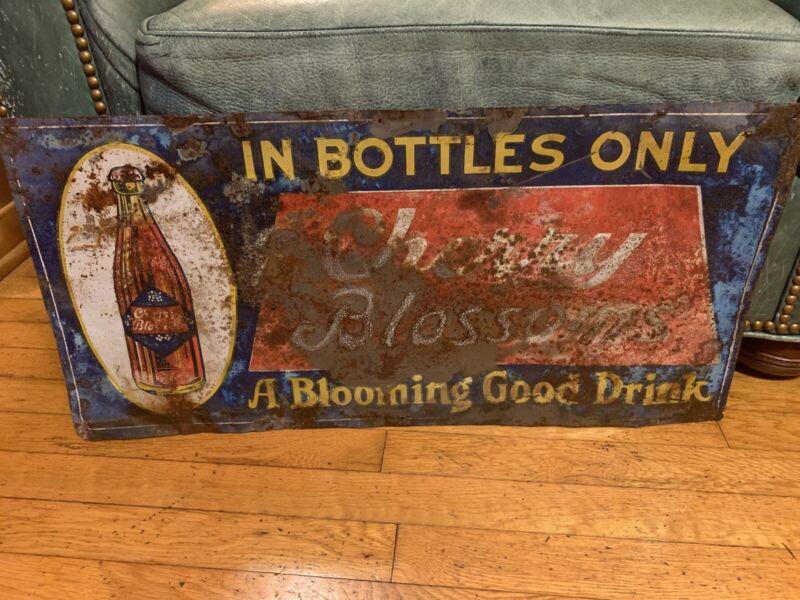 Rare Cherry Blossoms Soda Advertising Sign