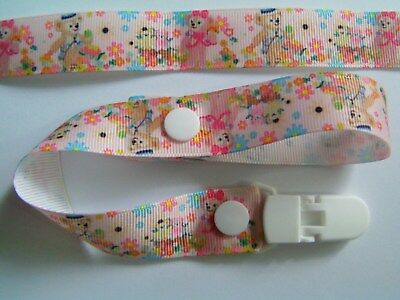 A GORGEOUS TEDDY BEARS DUMMY CLIP /PACIFIER / TOY CLIP (NEW)