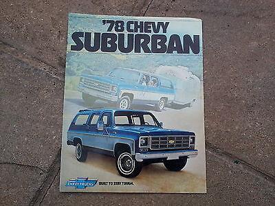 1978 CHEVY SUBURBAN BROCHURE   CHEVROLET TRUCKS