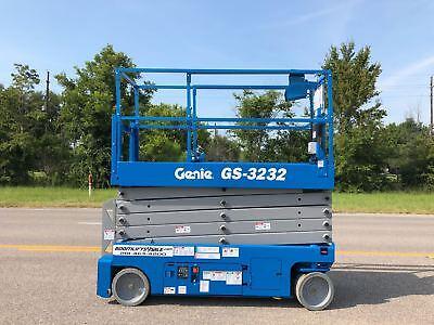 Genie 3232 Electric Scissor Lift Refurbished Warranty - Dealer Ie Jlg Skyjack