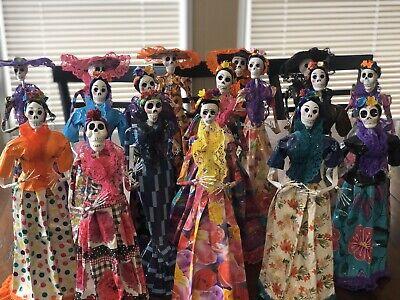 Catrina Doll Paper Mache Papel Mache Day Of The Dead Da De Los Muertos