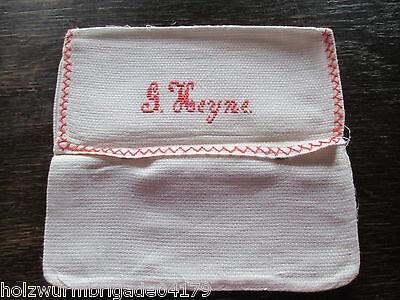 alte Taschentuch Tasche, Servietten Tasche Stickerei