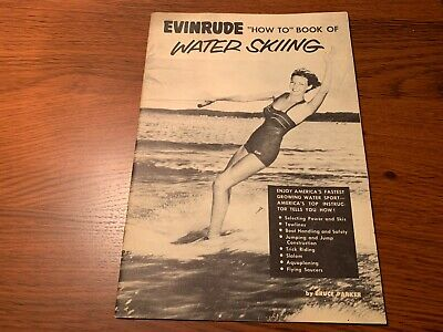"""EVINRUDE vintage """"How To"""" Book Of WATER SKIING 1954 promotional booklet"""