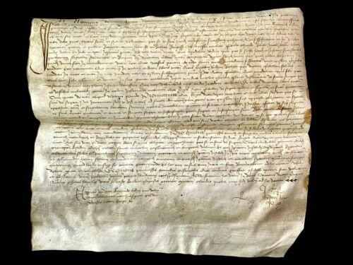 RENAISSANCE ERA VELLUM MANUSCRIPT 1526 - Extra Large Document