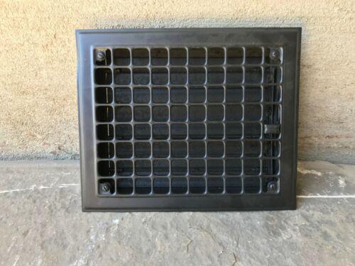 """Antique Steel Wall, Floor Grate Vent - Black - (10"""" x 12"""")  (#1)"""