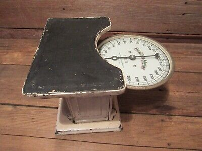 Vintage Early 1900's HEALTH O METER Physician Scale INDUSTRIAL SCALE VICTORIAN
