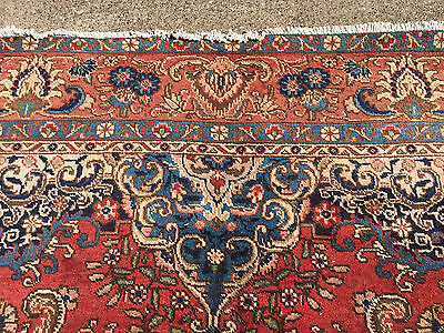 8x11 HAND KNOTTED WOVEN RUG PERSIAN MADE IRAN WOOL 8 x 11 area rugs 7 9 12 red