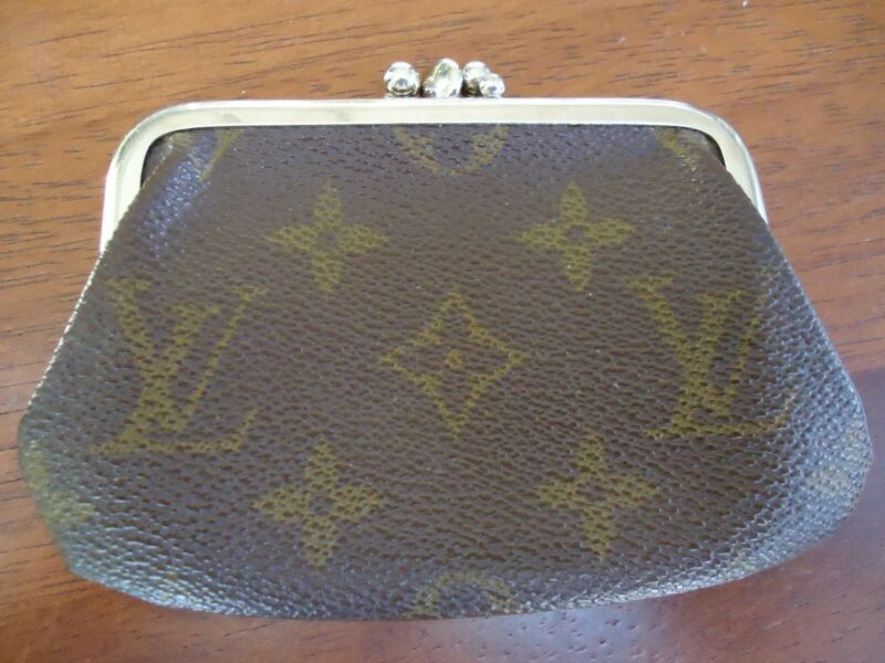 Vintage YSL Coin Purse Original Brown Leather 2 Compartments